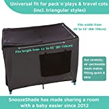 SnoozeShade Pack N Play Blackout Travel Crib Canopy