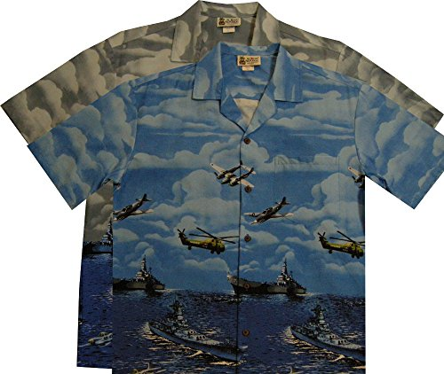 Aloha Republic Pearl Harbor War Mens Hawaiian Shirt