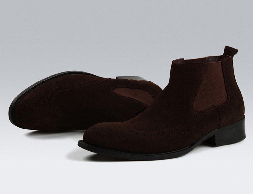 Herren Lederschuhe Herren Herren Herren Lederschuhe Nubukleder High-Top-Schuhe im britischen Stil Martin Stiefel Herrenschuhe (Farbe   Kaffee - Farbe, größe   EU38 UK5.5) B078MNQD47  1244a3