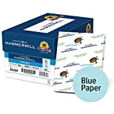 Hammermill Colored Paper, Blue Printer Paper, 20lb, 8.5x11 Paper, Letter Size, 5000 Sheets / 10 Ream Case, Pastel Paper, Colorful Paper (103309C)