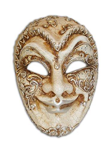 Venetian Full Face Mask Volto Jester Musica for Men