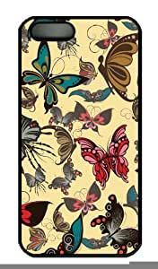 Hot iPhone 5S Customized Unique Print Design Restoring Ancient Ways Design Butterfly New Fashion PC Black iPhone 5/5S Cases