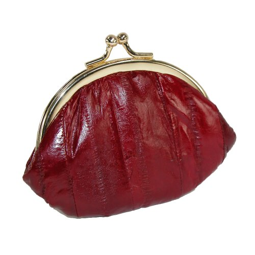 Eel Skin Purse (Small Eel Skin Coin Purse (Burgundy))