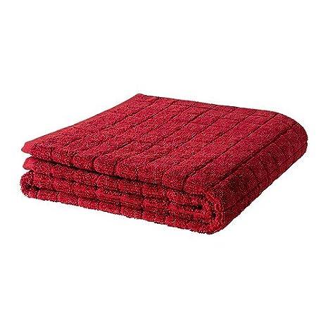 IKEA AFJARDEN - Toalla de baño, rojo oscuro - 70x140 cm: Amazon.es: Hogar