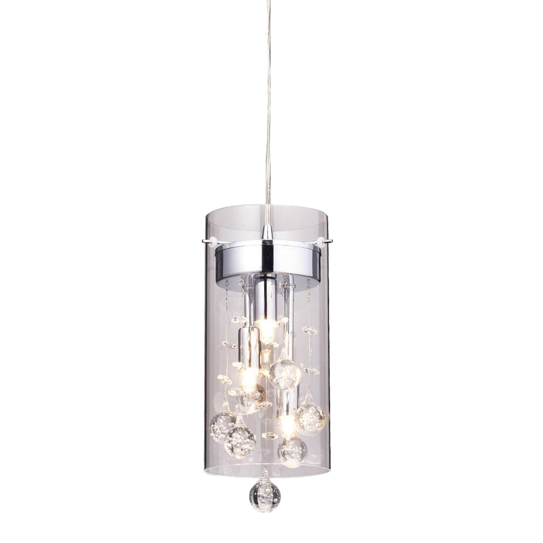 Truelite Modern G9 Glass Pendant Crystal Hanging Light Fixture by AXILAND