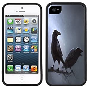 Ravens Crows Handmade iPhone 5C Black Case by Maris's Diary