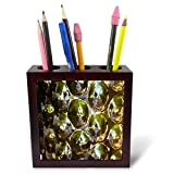 3dRose Lens Art by Florene - Pottery Abstracts - Image of Shiny Mirror Reflective Orbs - 5 inch Tile Pen Holder (ph_291449_1)