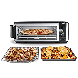 Ninja SP101 Foodi 8-in-1 Digital Air Fry, Large Toaster Oven, Flip-Away for Storage, Dehydrate, Keep Warm, 1800 Watts, XL Capacity, Stainless Steel