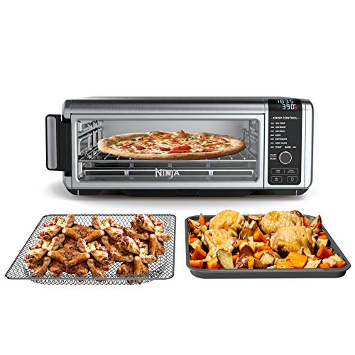 Ninja SP101 Foodi 8-in-1 Digital Air Fry, Large Toaster Oven, Flip-Away for Storage, Dehydrate, Keep Warm, 1800 Watts…