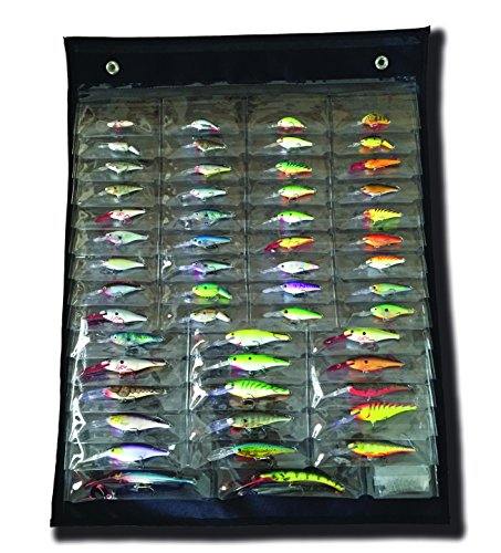 Pro Bait Tackle (Crank Canvas Classic Pro - Black Fishing Tackle Storage Organizer)
