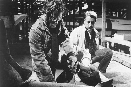 Jaws 11x17 Mini Poster Richard Dreyfuss Cutting Shark by Silverscreen
