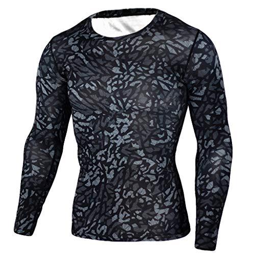 Rapide Sport Homme Combinaison Musculation Séchage Pantalon Longues Tops Fitness Gym À Moulant Ensemble shirt De Solike b T Noir Manches Camouflage xqZ10nOBtB