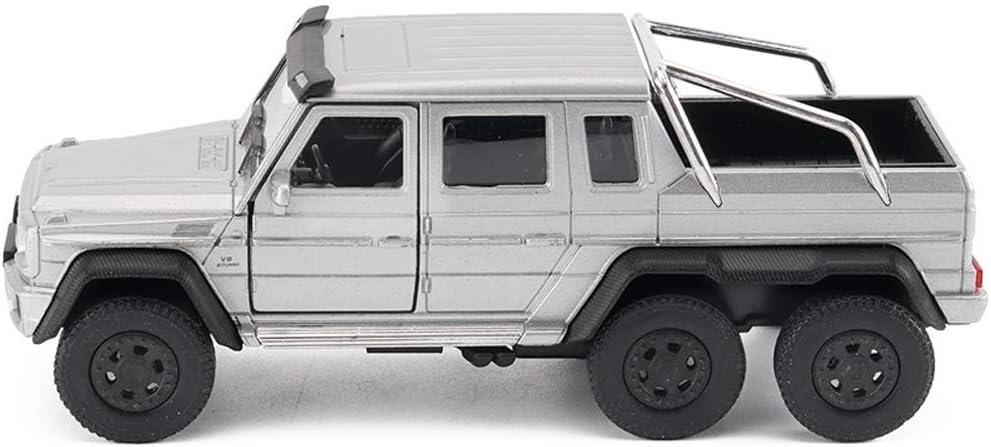 Pkjskh Tire hacia atrás de la puerta doble del coche modelo 1:36 coche todoterreno Modelo modelo de simulación de coches Adornos Collection
