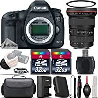 Canon EOS 5D Mark III DSLR Full Frame 22.3MP Camera + Canon EF 16-35mm f/2.8L II USM Lens + 64GB Storage + Wrist Grip Strap + Case + UV Filter + Card Reader - International Version