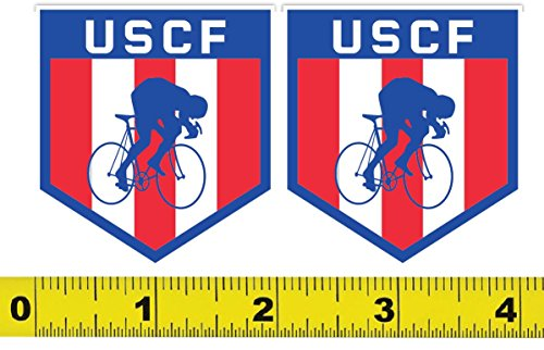 United States Cycling Federation Uscf Logo Set Of 2  2 X2   Vinyl Decal Sticker Bike Bicycle