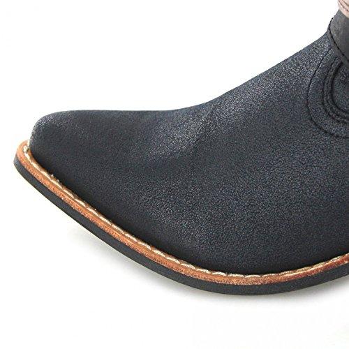 Fb Mode Laarzen Durango Laarzen Accessorize Bootie Drd0120 Zwart / Dames Western Diep Letters Zwart / Dames Diep Belettering / Mode Laarszwarte