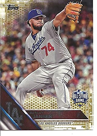Kenley Jansen Gold Short Print 16792016 All Star Game