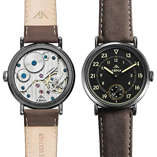 ArmA Stealth Avenger WWII Hand-Winding 17-Jewel Men Military Watch