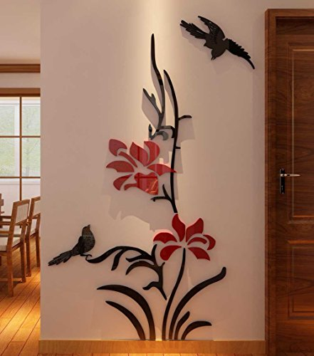 Cheap  3d Creative Flower Wall Murals for Living Room Bedroom Sofa Backdrop Tv..