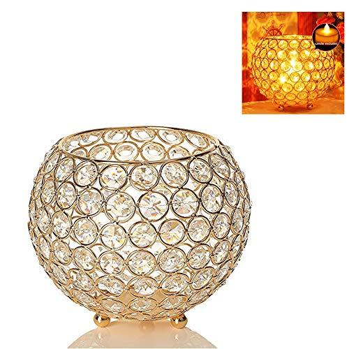 GNSDA Candelabros de Cristal, candelabros Decorativos para Velas votivas para Mesa, Decoraciones de la Sala de Estar, Bodas