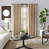MODE Premium Collection Double Curtain Rod Set with Birdcage Finials - 26 to 50 in, Dark Brown