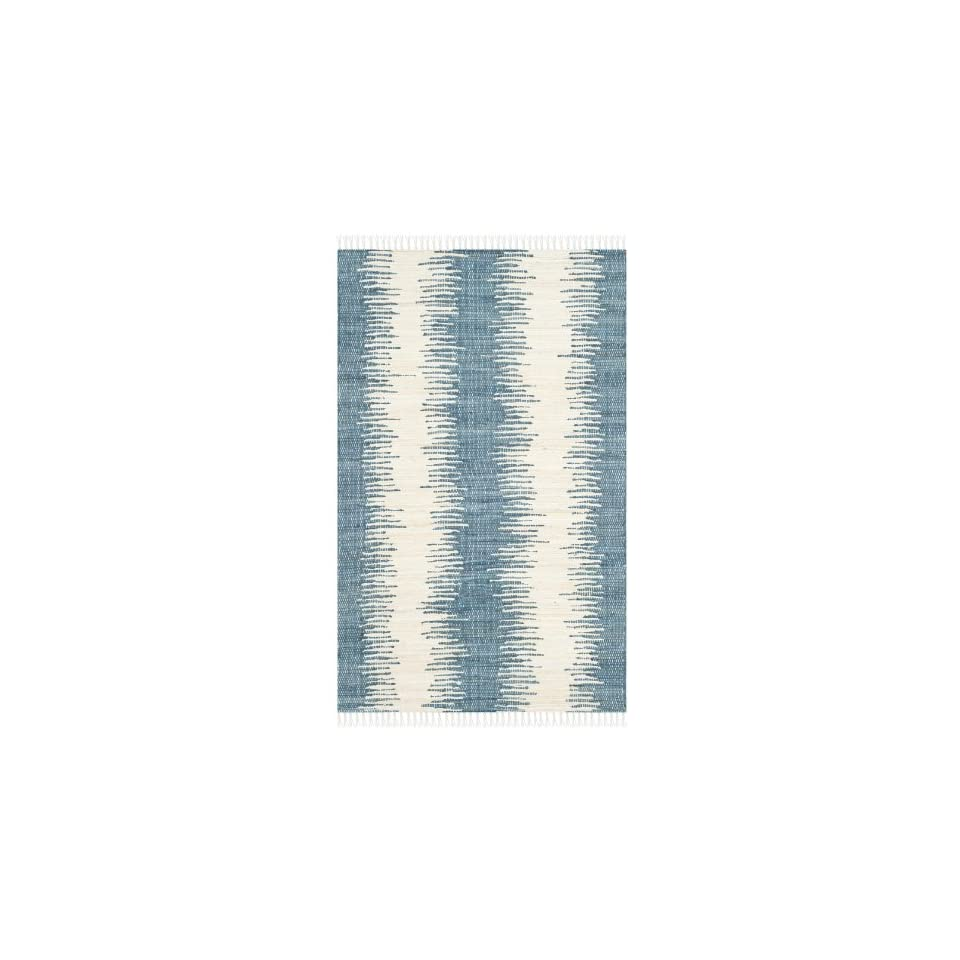 Safavieh Montauk Collection MTK751A Flatweave Blue Cotton Area Rug (3 x 5)