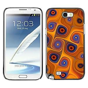 LECELL -- Funda protectora / Cubierta / Piel For Samsung Galaxy Note 2 N7100 -- Orange Swirls --