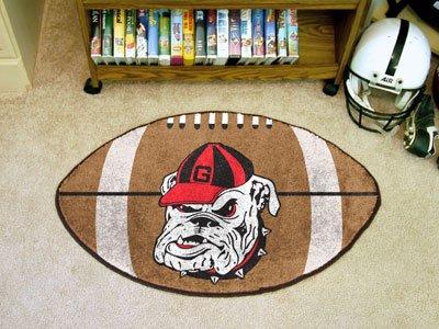College Football Mat - Fanmats Georgia Bulldogs Football-Shaped Mats