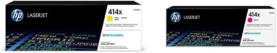 HP 414X | W2022X | Toner Cartridge | Yellow | High Yield & 414X | W2023X | Toner Cartridge | Magenta | High Yield