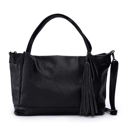 Shopper main Sac cuir femme Noir en Lily Modèle à qgqfTYa