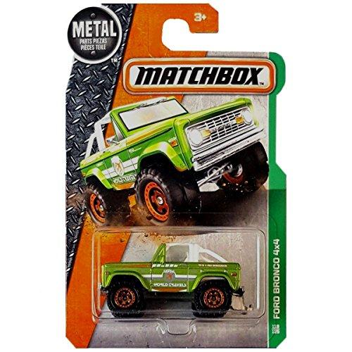 MATCHBOX 2016 FORD BRONCO 4X4 MBX EXPLORERS 118/125 RARE GREEN
