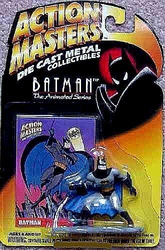 Defensive Batman Die-Cast Metal Collectible Interlocking Figure - Action Masters Batman, The Animated Series (Batman Master Series Master)