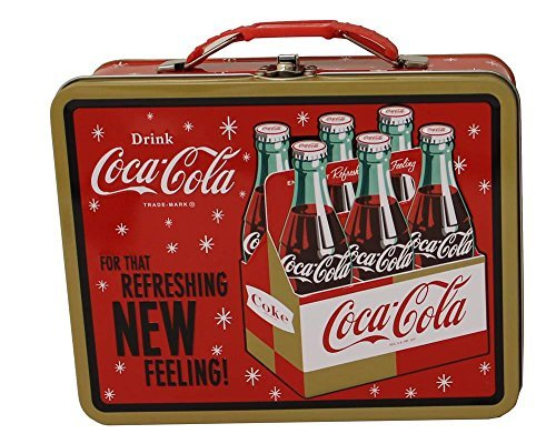 (Coca-Cola Galvanized Tin Retro Lunch Box)