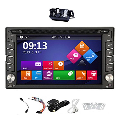 Just Arrival! Upgarde Version With Camera ! Win 8 Car Stereo Radio 2 DIN Car DVD CD Video Player Bluetooth GPS Navigation Car PC 800MHZ CPU !!! (Car Video Player Bluetooth)