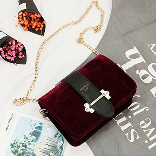 Millya - Bolso mochila  para mujer rojo oscuro rojo oscuro