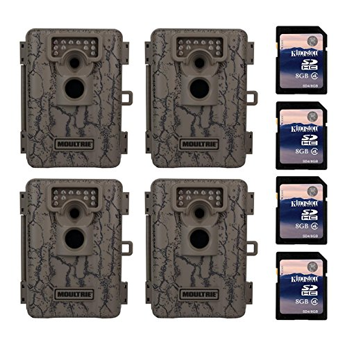 Moultrie A-5 5 MP Trail Game Camera, 4-Pack w/ SD Cards (Certified Refurbished) (5 Mp Digital Game)