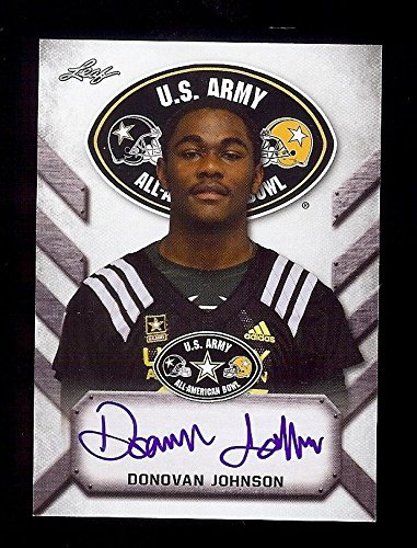 DONOVAN JOHNSON Autograph Rookie Penn State Nittany Lions 2017 Leaf Army Cert. AUTOGRAPH RC from Leaf