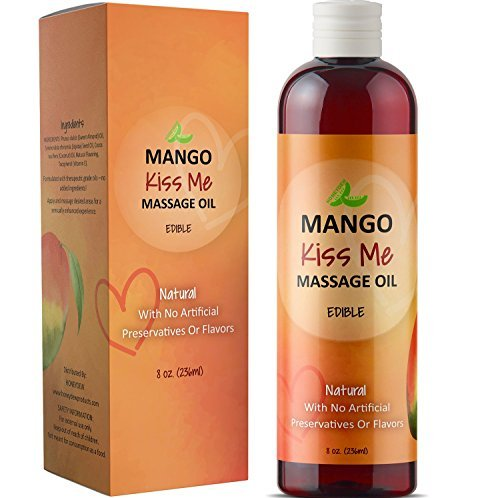 apy Oil for Men & Women - Relaxing Therapeutic Edible Mango Body Oil for Healthy Hydrated Skin - Anti-Aging Natural Oils Jojoba Sweet Almond & Coconut Oil for Skin & Muscle Relief ()