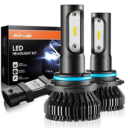 Marsauto 9005 HB3 Led Headlight Bulbs Fanless,M1 Series High Beam/Fog Light CSP Chips 6000K Xenon White ()