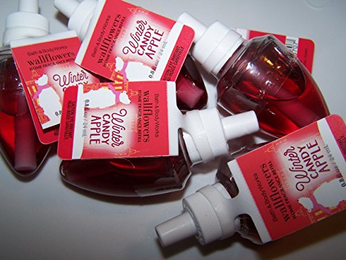Lot of 5 Bath & Body Works Winter Candy Apple Wallflower Home Fragrance Refill Bulbs (Winter Candy Apple)