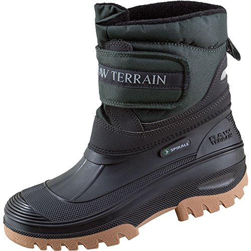 Terrax 70316-42-1000 Spiral Bottes d'hiver court Taille 42 Noir