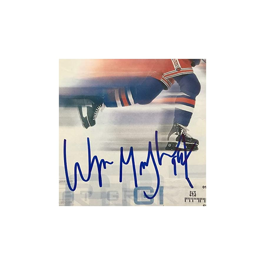 Wayne Gretzky Authentic Autographed Magazine with Certificate of Authenticity