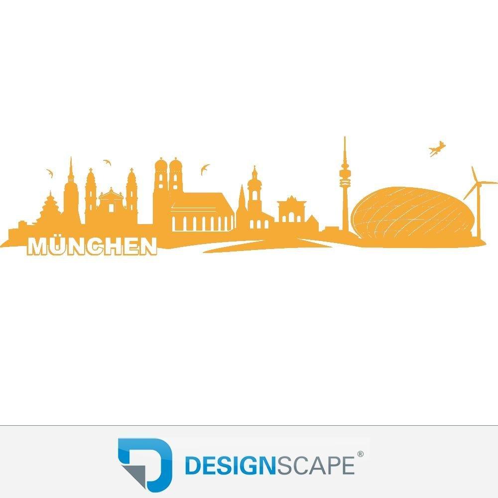 DESIGNSCAPE® Wandtattoo München Skyline 140 140 140 x 34 cm (Breite x Höhe) dunkelgrau DW806004-M-F7 fa2f0c