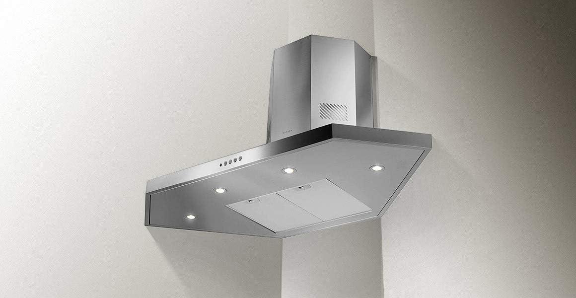 Faber – Campana de esquina estilo esquina, acabado en acero inoxidable de 100 x 100 cm: Amazon.es: Grandes electrodomésticos