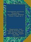 img - for Inscriptiones parietariae Pompeianae, Herculanenses, Stabianae Volume 4 Suppl. pt. 2 (Latin Edition) book / textbook / text book