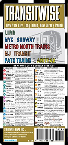 - Streetwise Transitwise New York City Subway Map - Manhattan Subway Map with New Jersey, Train, LIRR, Amtrak - NYC Metro Transit Map (Streetwise (Streetwise Maps))