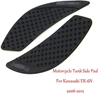 Motorcycle Rubber Tank Traction Pad Side Gas Knee Grip Protector for Kawasaki ER-6N 2006-2012