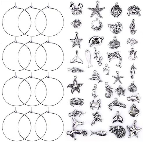 Ancefine Pieces Silver Plated Pendants DIY product image