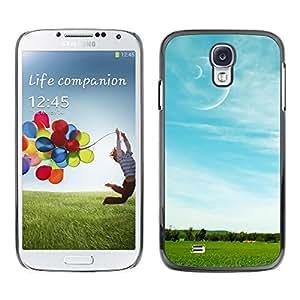 PC/Aluminum Funda Carcasa protectora para Samsung Galaxy S4 I9500 Nature Field Moon / JUSTGO PHONE PROTECTOR