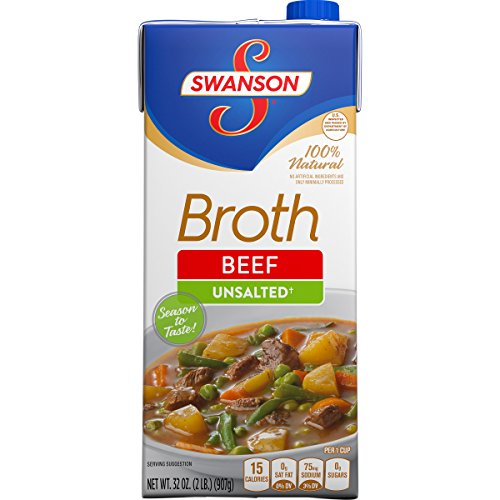 Swanson Unsalted Beef Broth Ounce